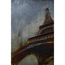 Фреска металева Eiffel Tower