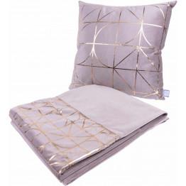 Набір подушка і плед Prisma 300 Taupe/Gold