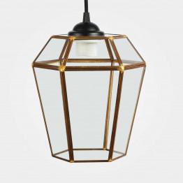 Підвісний світильник Rufus Copper S Black/Clear