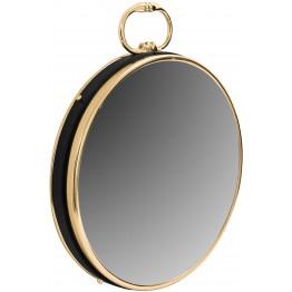 Настінне дзеркало Round 925 Gold/Black Ø 41 cm