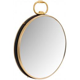 Настінне дзеркало Round 425 Gold/Black 51 cm