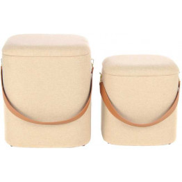 Набір пуфів Square T125 / 2 Beige / Brown