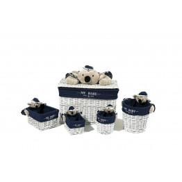 Набір кошиків Koala TD190 Blue/White