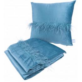 Набір подушка і плед Palmira Aqua