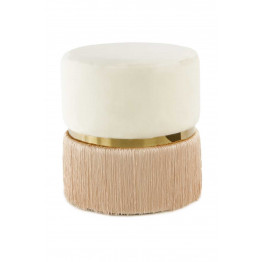 Пуф Milano T125 Ivory/Champagne/Gold