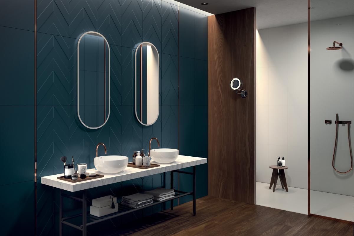 ванна кімната синього кольору
