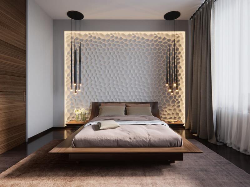 Освітлення в спальні мінімалізм