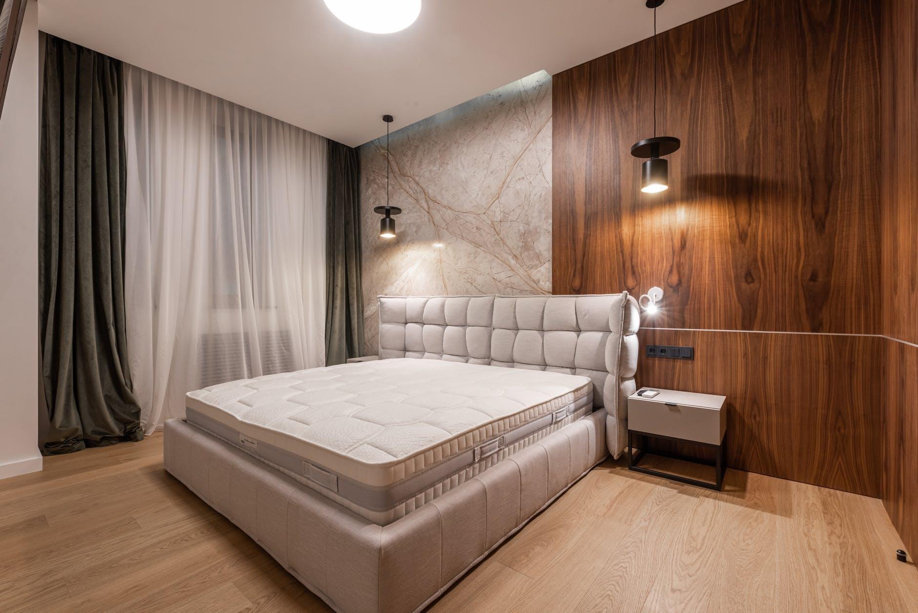 Дизайн спальні в стилі мінімалізм