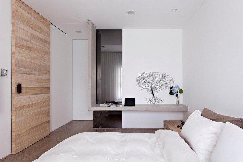 Робоча зона в спальні мінімалізм